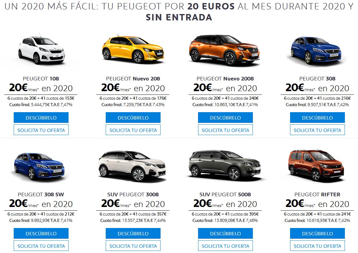 Tu nuevo Peugeot por 20€ al mes en 2020 en Tumasa Huesca y Monzón